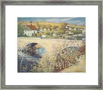Bridge At Ispwich Framed Print by Theodore Wendel