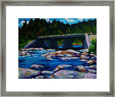 Bridge At Liscomb Nova Scotia Framed Print