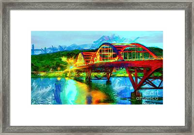 Bridge At Night Framed Print by Max Cooper