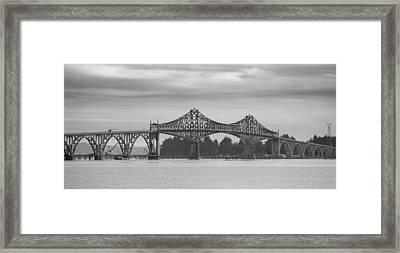 Bridge At North Bend Framed Print