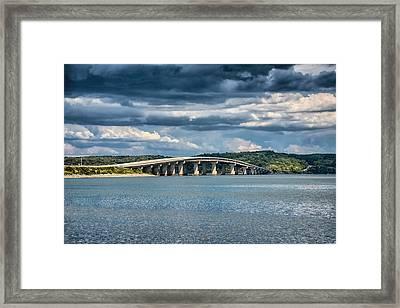 Bridge At Paris Landing Framed Print by Jai Johnson
