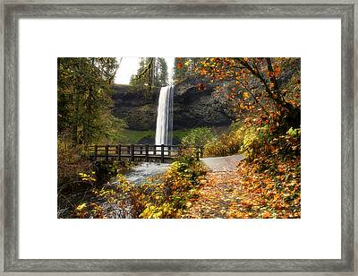 Bridge At South Falls Framed Print