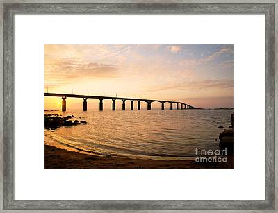 Bridge At Sunrise Framed Print by Kennerth and Birgitta Kullman