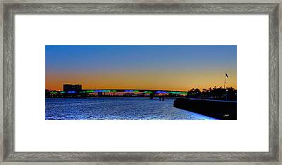 Bridge At Twilight Framed Print
