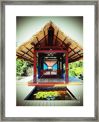 Bridge At Ubud Framed Print