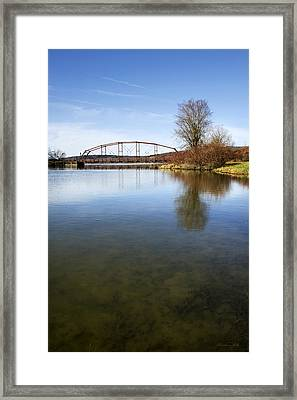 Framed Print featuring the photograph Bridge At Upper Lisle by Christina Rollo