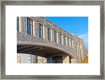 Bridge At Virginia Tech Framed Print by Melinda Fawver