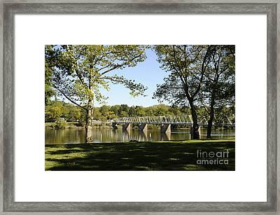 Bridge At Washington Crossing Framed Print