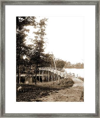 Bridge Between Hogsback And Belleview Island, Lake Orion Framed Print