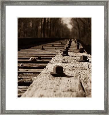 Bridge Bolts Photo Framed Print by Rick McKee