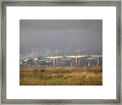 Bridge Building Framed Print
