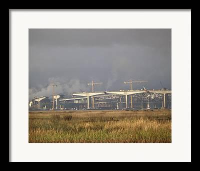 Benicia Bridge Framed Prints