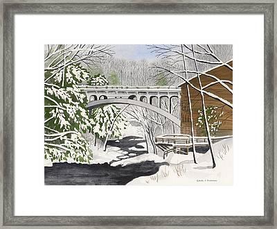 Bridge By The Mill - Mill Creek Park Framed Print