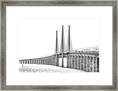 Bridge Connecting The Countries Framed Print by Kim Lessel