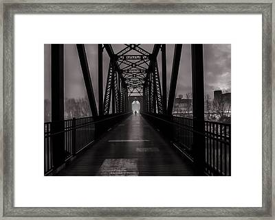Bridge Crossing Framed Print by Bob Orsillo