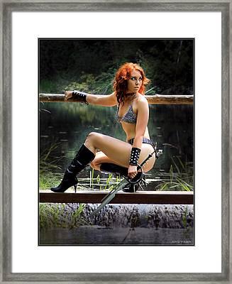 Bridge Crossing Framed Print