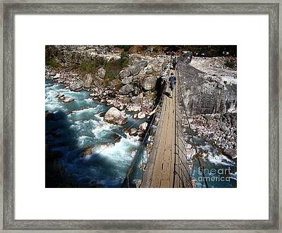 Bridge Crossing Framed Print by Tim Hester