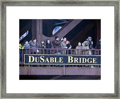 Bridge Cuddling  Framed Print