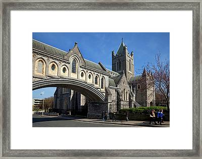 Bridge From The Synod Hall To Christ Framed Print by Panoramic Images