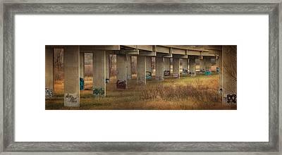 Framed Print featuring the photograph Bridge Graffiti by Patti Deters