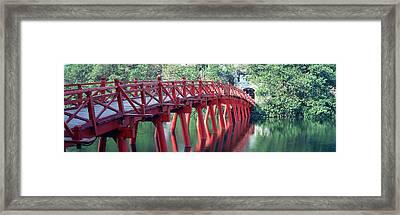 Bridge, Hoan Kiem Lake, Hanoi, Vietnam Framed Print