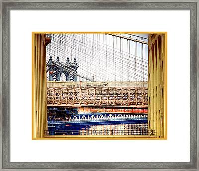 Bridge In A Box Framed Print by Vicki Jauron