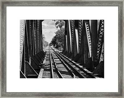 Bridge In Black And White Framed Print
