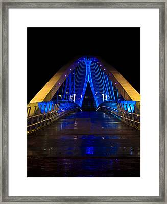 Bridge In Blue Framed Print by Brendan Quinn