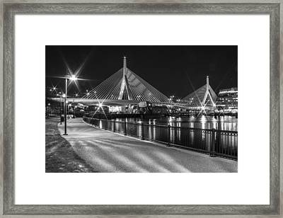 Bridge In Boston Framed Print by John McGraw
