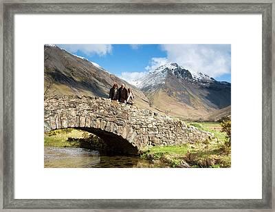 Bridge In Lake District Cumbria England Framed Print