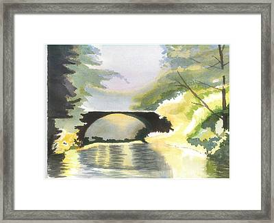 Bridge In Shadows Framed Print