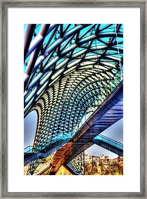 Bridge In The Air Framed Print