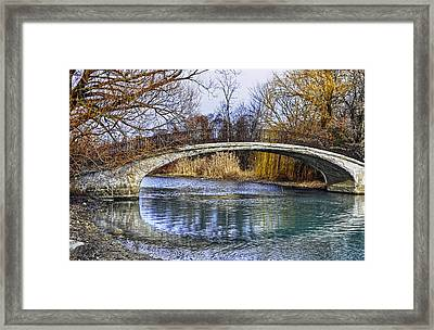 Bridge In The December Sun Framed Print