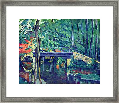 Bridge In The Forest By Cezanne Framed Print by John Peter