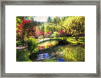 Bridge In The Garden Framed Print