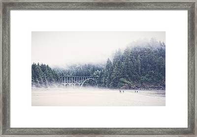 Bridge In The Mist  Framed Print