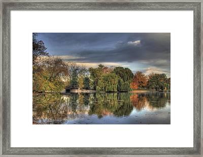 Bridge In The Park Framed Print