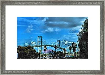 Framed Print featuring the photograph Bridge by Joseph Hollingsworth