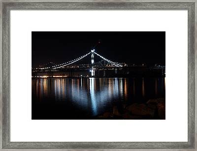 Bridge Lights Framed Print by Michael Courtney