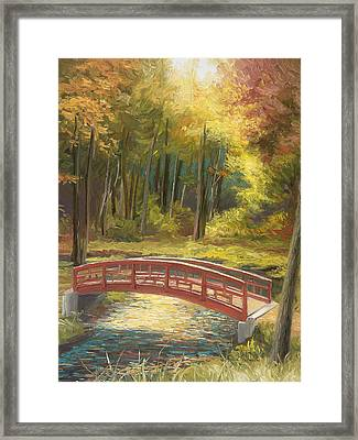 Bridge Framed Print by Lucie Bilodeau
