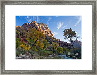 Bridge Mountain Framed Print
