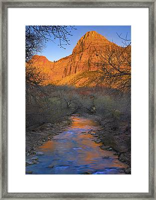Bridge Mt And The Virgin River Zion Np Framed Print
