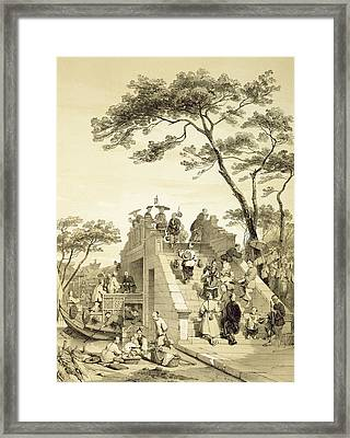 Bridge Near Canton, Plate 30 Framed Print