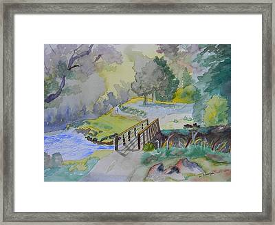 Bridge Near Enniskerry Ireland  Framed Print