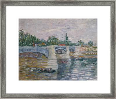 Bridge Of Courbevoie 1887 Framed Print