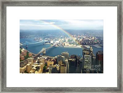 Bridge Of Light - In Loving Memory Framed Print by Michelle Wiarda