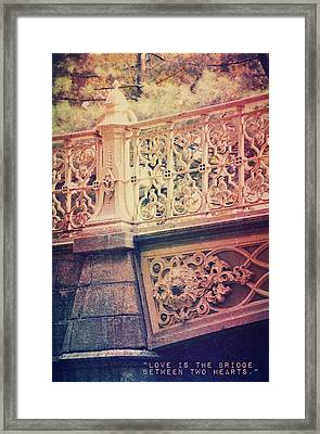 Bridge Of Love Framed Print by Marianna Mills