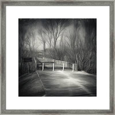 Bridge Of No Return Framed Print by Joan Carroll