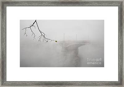 Bridge Of Prague In The Morning Fog Framed Print by Jaroslaw Blaminsky