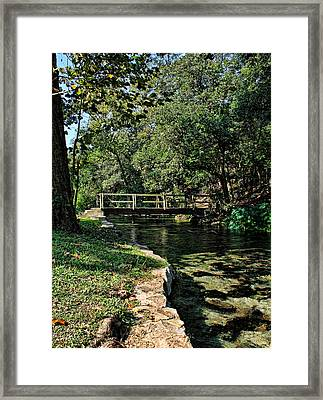 Bridge Of Serenity Framed Print
